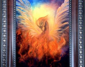 Phoenix Rising Print Framed, Phoenix Rising Art, Phoenix Firebird Art Print