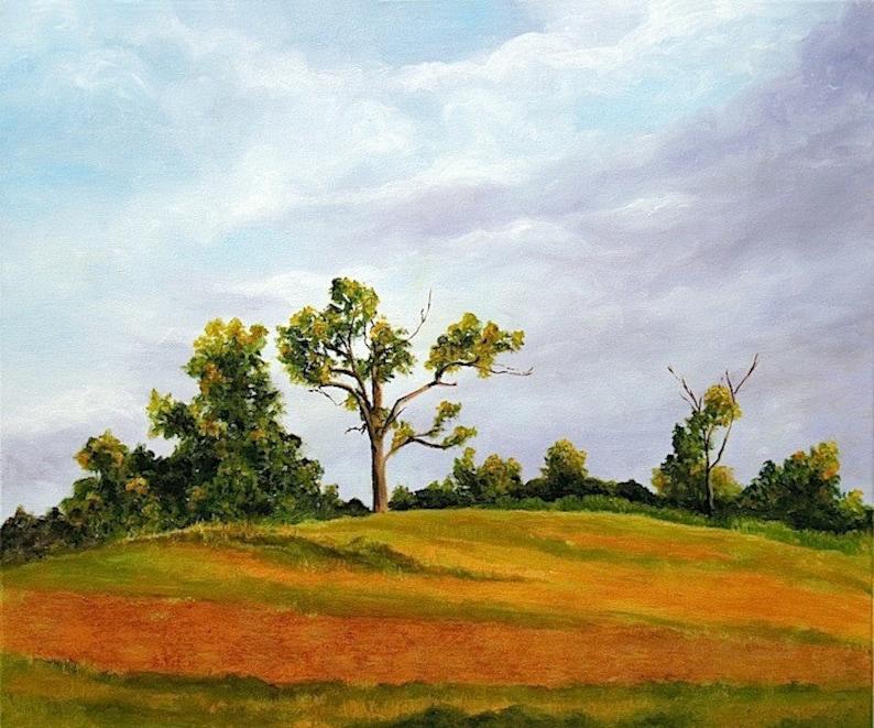Original Landscape Painting Countryside Painting Original image 0