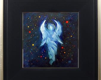 Angel Print Framed Art, Guardian Angel, Celestial Angel Decor, Spiritual Art, Wall Art, Angel Decor, Angel of Grace