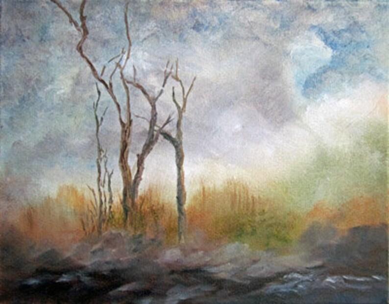 Original Landscape Oil Painting on Canvas Autumn Painting image 0