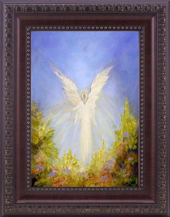 Angel Art Print Spiritual Wall Decor Guardian Angel Angel | Etsy