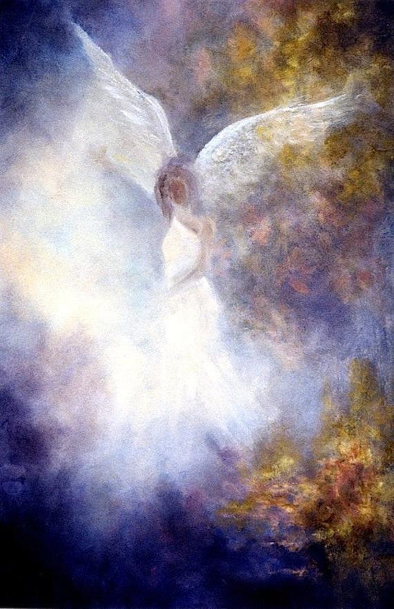 d538e8698 Guardian Angel Print Angel Art Angel Poster Print Spiritual | Etsy
