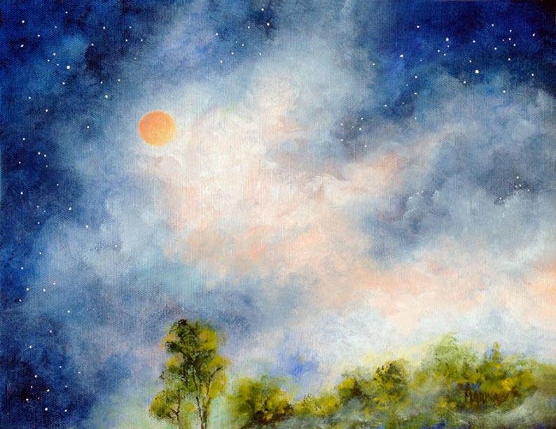 Landscape Painting Original Oil Landscape Art Sky Painting image 0