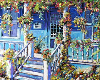 Country Porch Original Painting by Prankearts