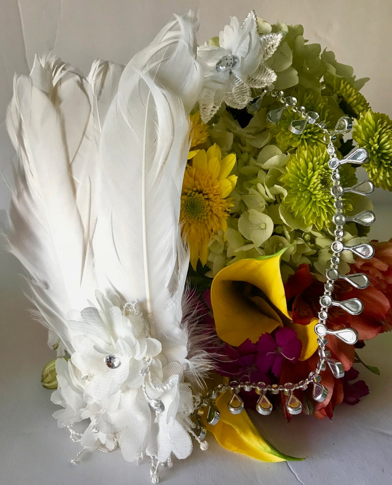 Flapper great gatsby style wedding bridal headpiece image 0
