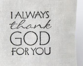 I Always Thank God For You Lavender Sachet, Gifts for Mentor, Daycare Provider, Preschool Kindergarten Teacher, BFF