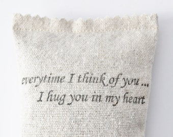 Cadeau de relation longue Distance, pensant à vous les sachets de lavande, Miles de distance, perte d'un être cher