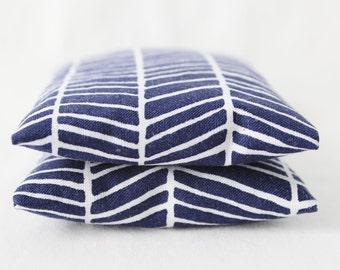 Bougie parfumée tiroir Sachets, marine bleu et blanc à chevrons, cadeaux pour les femmes, Modern Home Decor