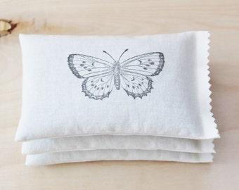 3 coussins de lavande - 2e cadeau d'anniversaire pour elle, romantique anniversaire, papillon en coton