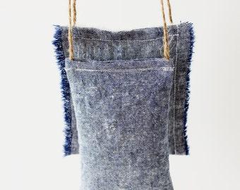 Désodorisant de voiture - Bleu Denim coton de Sachet de lavande, accessoires de voiture pour homme, cadeau d'anniversaire pour lui