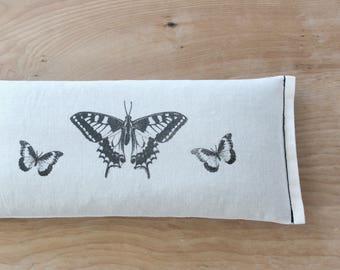 Lavender Flax Seed Eye Pillow, Butterflies, Self Care Gift for Mom
