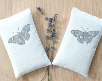 Butterflies in Flight Lavender Sachets, Scented Drawer Sachets for Minimalist Nature Decor