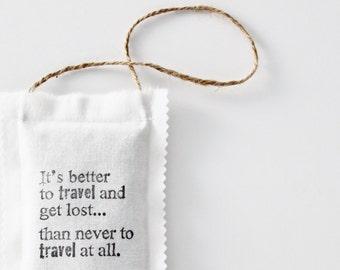 Wanderlust Lavender Sachet - Travel Gifts for Women - Car Air Freshener