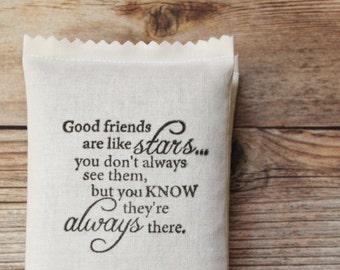 Longue Distance amitié cadeau - bons amis sont comme des étoiles les sachets de lavande - cadeaux d'anniversaire pour les femmes