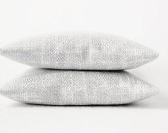 White Gray Minimalist Sachets - Organic Lavender Rose Jasmine Scented Bags - Mysterious Fog