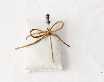 White Polka Dot Lavender Sachets, Modern Cottage Chic, Fresh Home Decor