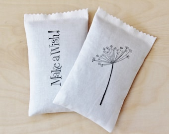 Dandelion Lavender Sachets - Woman Birthday Gift - Organic Scented Drawer Sachets - Whimsical Decor