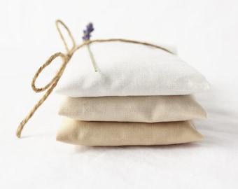 White Ombre Lavender Sachets - Modern Minimalist Decor - Scented Drawer Sachets