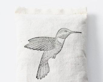 Organic Rose Sachet Wedding Favor, Hummingbird Natural Home Decor, Sentimental Gifts for Her, Gardeners Gifts