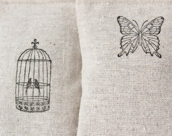 Butterfly and Birds Lavender Sachets, Hanging Decorations, Nature Decor, Car Air Freshener