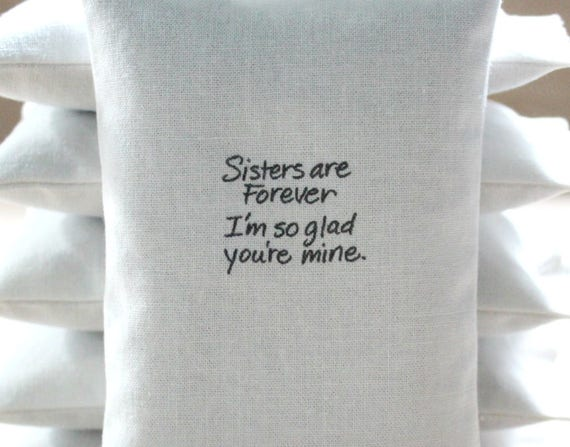 Sister Quote Lavender Sachet Sisters Are Forever Im So Etsy