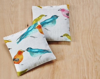Colorful Birds Lavender Sachets, Scented Sachets for Drawers, Unique Gifts for Women
