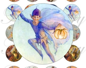 Printable, instant download,  Vintage Fairy images for 40mm, pendant, buttons, scrapbook and more Vintage Digital Collage Sheet No.1705