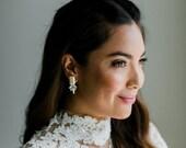 Zora - modern chic Bridal Earrings
