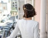 Charlie - hair swag with ivory and floral detail