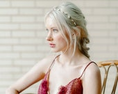 Willow: Hair Vine / with opals and crystals / modern minimal sparkle