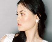 Mercer: Celestial inspired earrings / star motif in mother of pearl acrylic