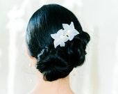 Bardot Comb: resin florals with pearl detailing