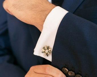 Maxwell / Cuff Links in art deco style / wedding crystal accessory