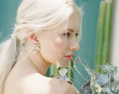 Murphy: opal and crystal cluster / statement earrings