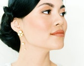 Daryn: modern bridal / pearl drop earring