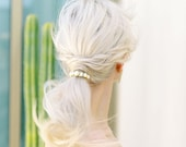 Reese Pony Tail Holder with pearls and crystals