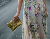 SALE Limited Edition Handbag Collab: beaded gold clutch for weddings and events