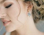 "Something Blue delicate crystal earrings ""Lexi"""
