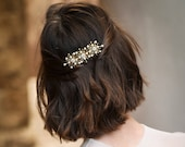 Julia - starburst hair comb with pearls and crystals
