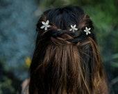 Monika - Floral Crystal Hair Pins