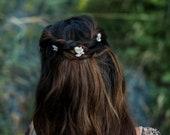 Toni - Romantic Gold Brushstroke Hair Pins