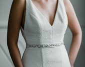 Henri - Metallic Beaded Leather Bridal Belt