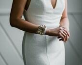 Maria - Floral Leather Wrap Bracelet