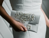 SALE Limited Edition Handbag Collab: beaded clutch for weddings and events