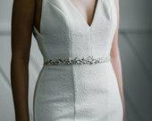 RUSH FOR KELSEY - Simone Wedding Belt - Ivory, Moonstone & Crystal Cluster Sash