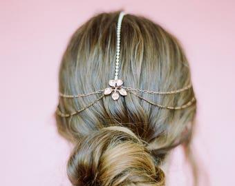 Beautiful & Effortless Rose Gold Hair Chain