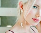 Vanya: Moon & Stars earrings / celestial inspired