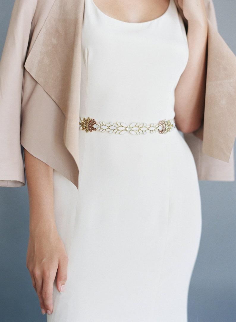 Beautiful Ombre beaded wedding belt