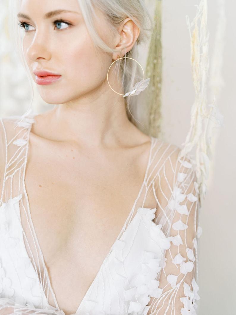 bohemian romantic style hoop earrings width=