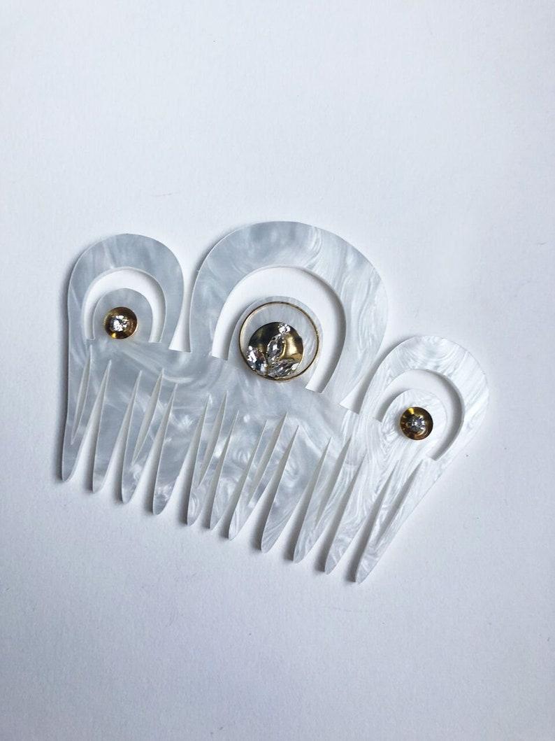 Clyde Art Deco Inspired Laser Cut Bridal Comb